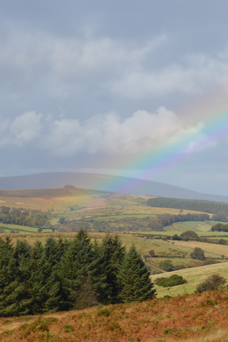 photoblog image Rainbow over Dartmoor